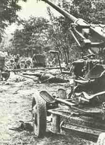 Polish light 40 mm AA gun at the Bzura