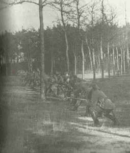 German troops advance