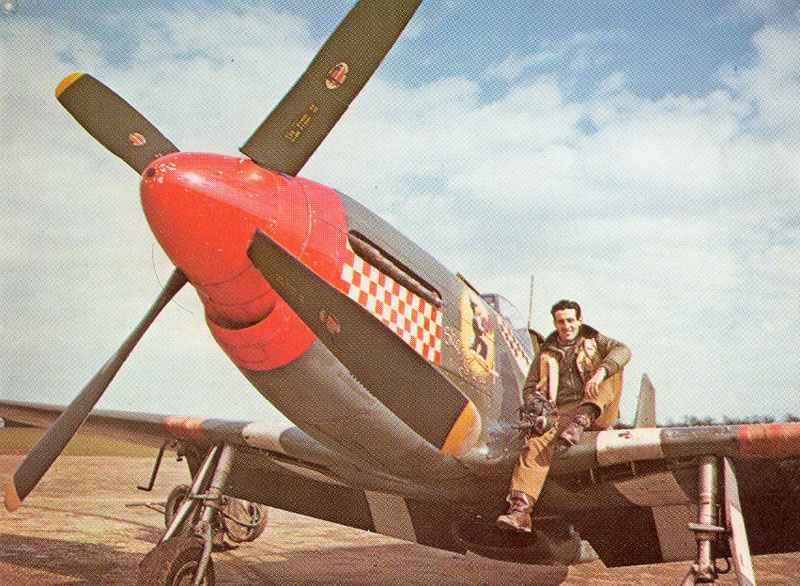 Capt Don Gentile was top ace of the top P51 Mustang group