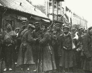 Russian troops in Warsaw 1914