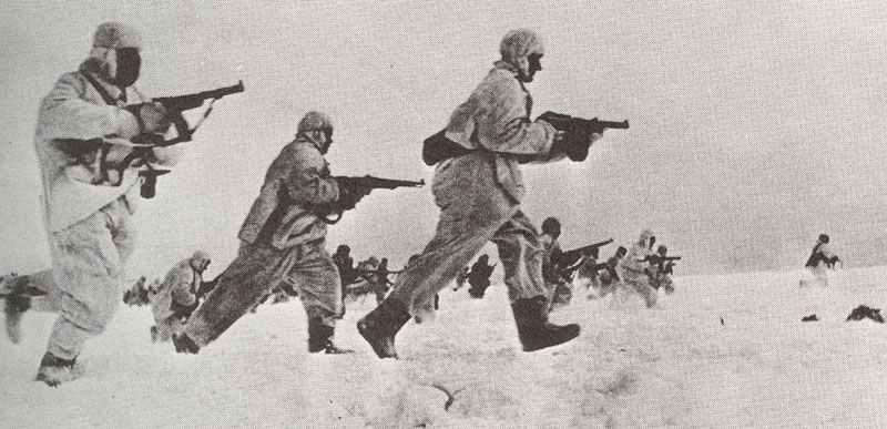 Russian infantry assault winter 1941-42