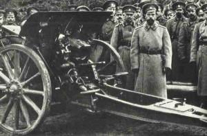 Tsar is visiting his troops