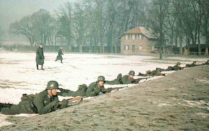 Conscripts of the Wehrmacht during basic training