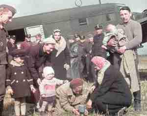 Return transport of  German refugees