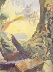 Propaganda painting of German anti-tank fighters