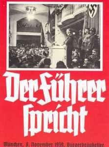 poster Hitler speaks at Burger-Braukeller 1939