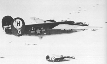 B-24H Liberator en route for Germany