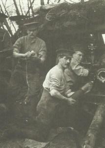 British artillerymen at Ypres