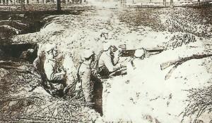 German troops dig in the West