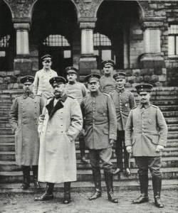 Hindenburg with his staff on the Eastern front