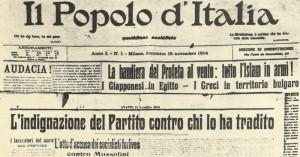 'Il Popolo d'Italia' November 1914