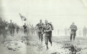 German attack at Langemarck 1914