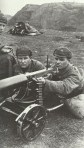 Russian machine-gun team training on the M1910 Maxim