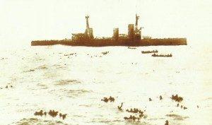 British battle cruisers stop and rescue 200 men Falklands
