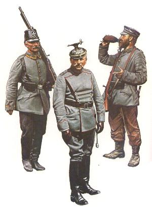 Uniforms of the Germany Army in World War One 1914-1918