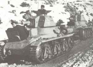 French Hotchkiss H-35 tanks with SS division Prinz Eugen