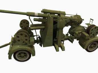 3D model of 88 mm Flak 36.