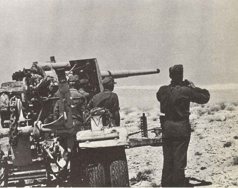 88 mm Flak ready for firing during Operation Battleaxe