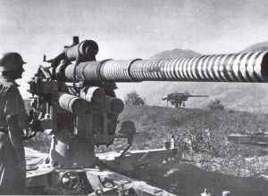 88 guns during the heavy fighting at Salerno