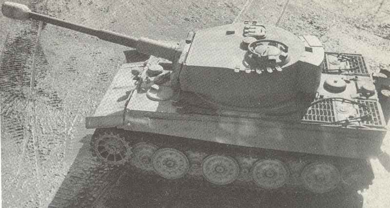 Side view from above of a PzKpfw VI Tiger.