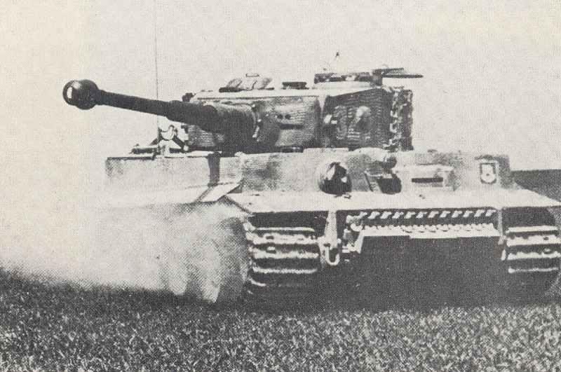 Tiger tank in combat