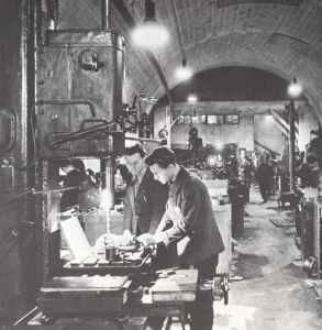 Underground production plant
