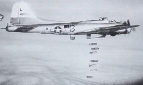 B-17G drops it bombs
