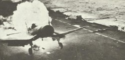 Corsair burns on British carrier