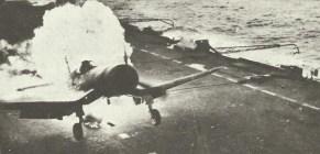 Corsair burns on British carrier