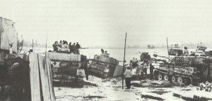 German tanks during the heavy retreat fightings  in the area of Czestochowa