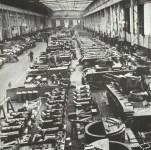 Assembly hall of a German tank factory.