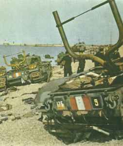 Churchill tanks at Dieppe