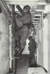 Drill in bunker of Siegfried Line