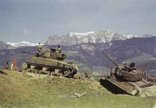 Russian Sherman (76mm) and T-34 tanks