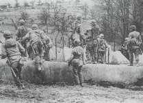 American troops cross the Siegfried line