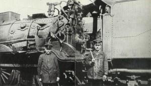 Locomotive hit by bomb
