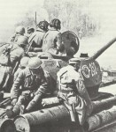 Advancing Russian troops in Poland in March 1945