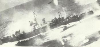 B-25 Mitchells bomb a Japanese escort