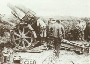 German 21-cm howitzer