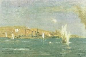 Battleship 'Queen Elizabeth' bombarded Turkish forts
