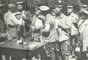 German troops are vaccinated against cholera