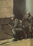 German infantry in street fighting