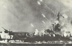 Ship fires rockets on Okinawa