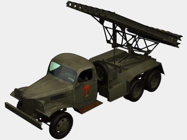 3d model of BM-13N Katyusha
