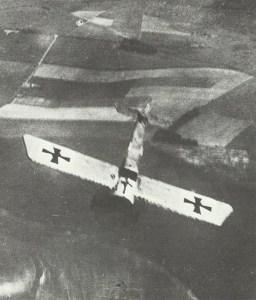 Fokker E monoplane goes into a dive