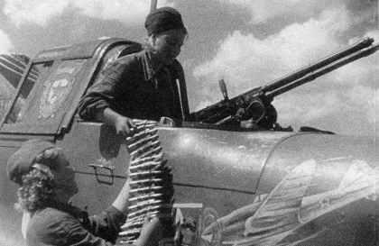 Ammunition for the rear gun of a Stormovik