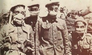 first gas masks for British soldiers