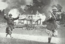 French soldiers surrender