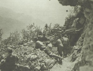 Trenches above the Isonzo