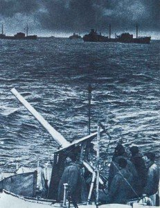 merchantmen during a Arctic convoy